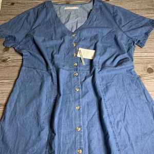 ASOS Curve Denim Tea Dress NWT